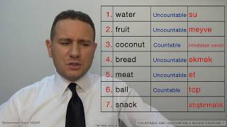 COUNTABLE AND UNCOUNTABLE NOUNS EXERCISE 1