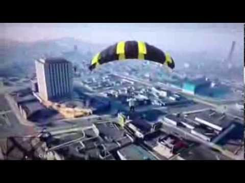 how to use the parachute in gta 5