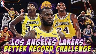 Los Angeles Lakers Better Record Challenge
