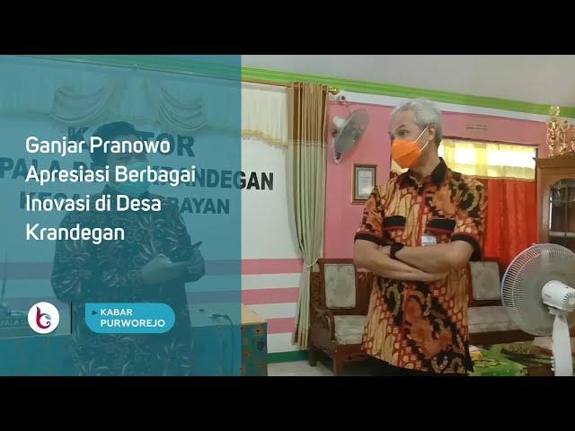 Ganjar Pranowo Apresiasi Berbagai Inovasi di Desa Krandegan