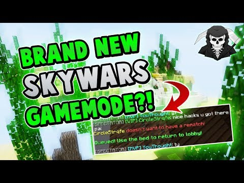 BRAND NEW SKYWARS GAMEMODE + PLAYER BANNED! ( Hypixel Skywars )