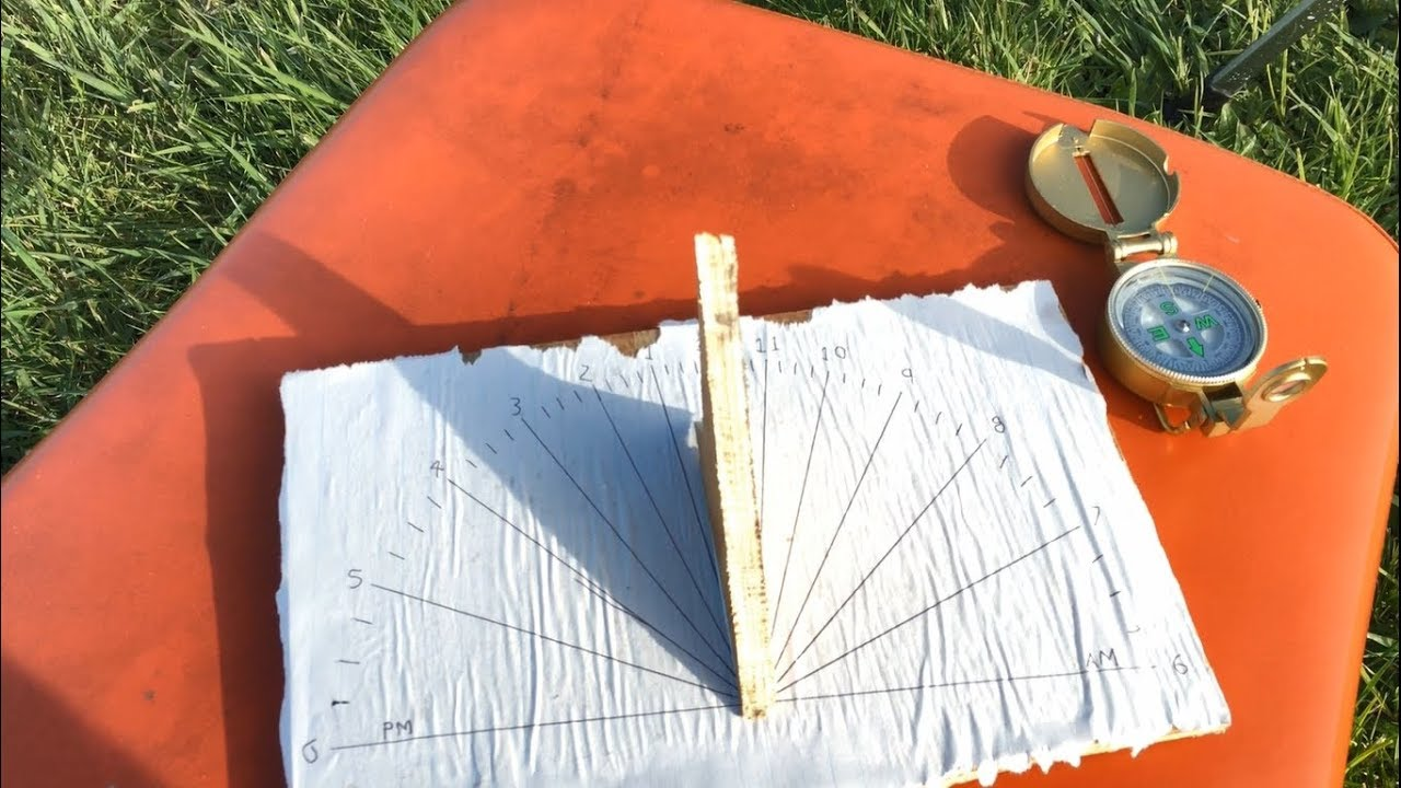 homemade sundial - off the grid ep 2