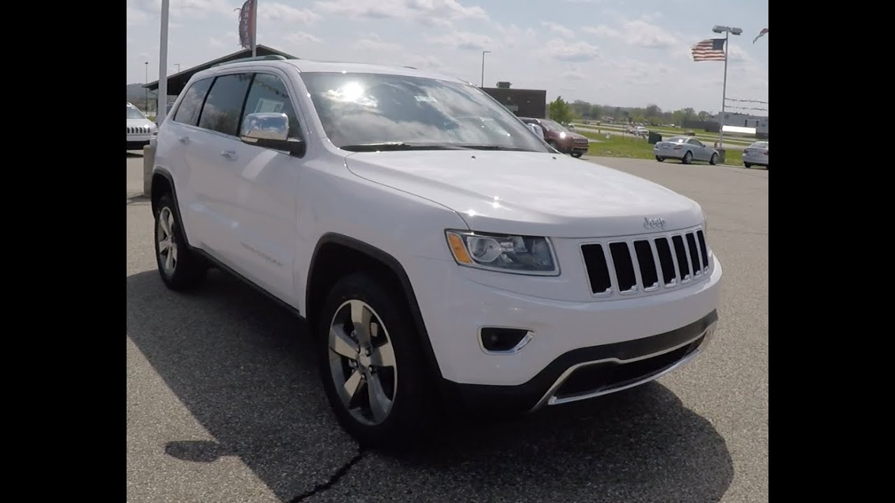 2015 jeep grand cherokee limited 4x4 white 17909 youtube. Black Bedroom Furniture Sets. Home Design Ideas