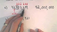 Rounding Whole Numbers: Round to the Nearest Million
