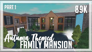 ROBLOX | Welcome To Bloxburg: 89k Autumn Themed Family Home | Speedbuild + Screenies