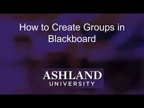How to Create Groups in Blackboard