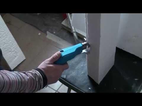 Как резать пенопласт дома, горячий нож для резки пенопласта, режем клинышки из ППС-16Ф
