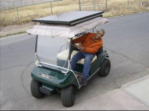 Convert Golf Cart to Solar - YouTube on golf cart led lights, golf cart air bag suspension, golf cart awning, golf cart inverter, golf cart phone charger, golf cart lithium battery, golf cart battery charger,
