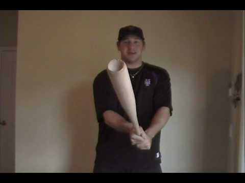 How To Cork A Wood Baseball Bat - Kyle Blanks