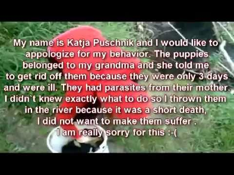 Girl Throws Puppies Into A River Know Your Meme