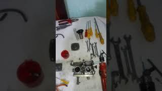 Limpeza do carburador e polimento da sede xt 600e