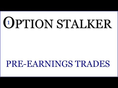 Option Stalker - Buy Calls On Stocks That Rally Into Earnings