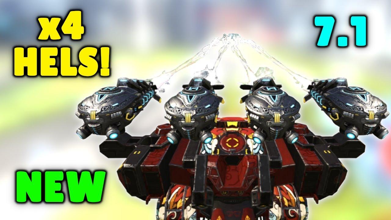 WOW! NEW 7.1 HEL BEHEMOTH 🔫 Mk2 Max DMG | War Robots Update Gameplay WR