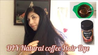 DIY Natural Hair Dye with Coffee HAIR MASK GET RID OF GREY HAIR