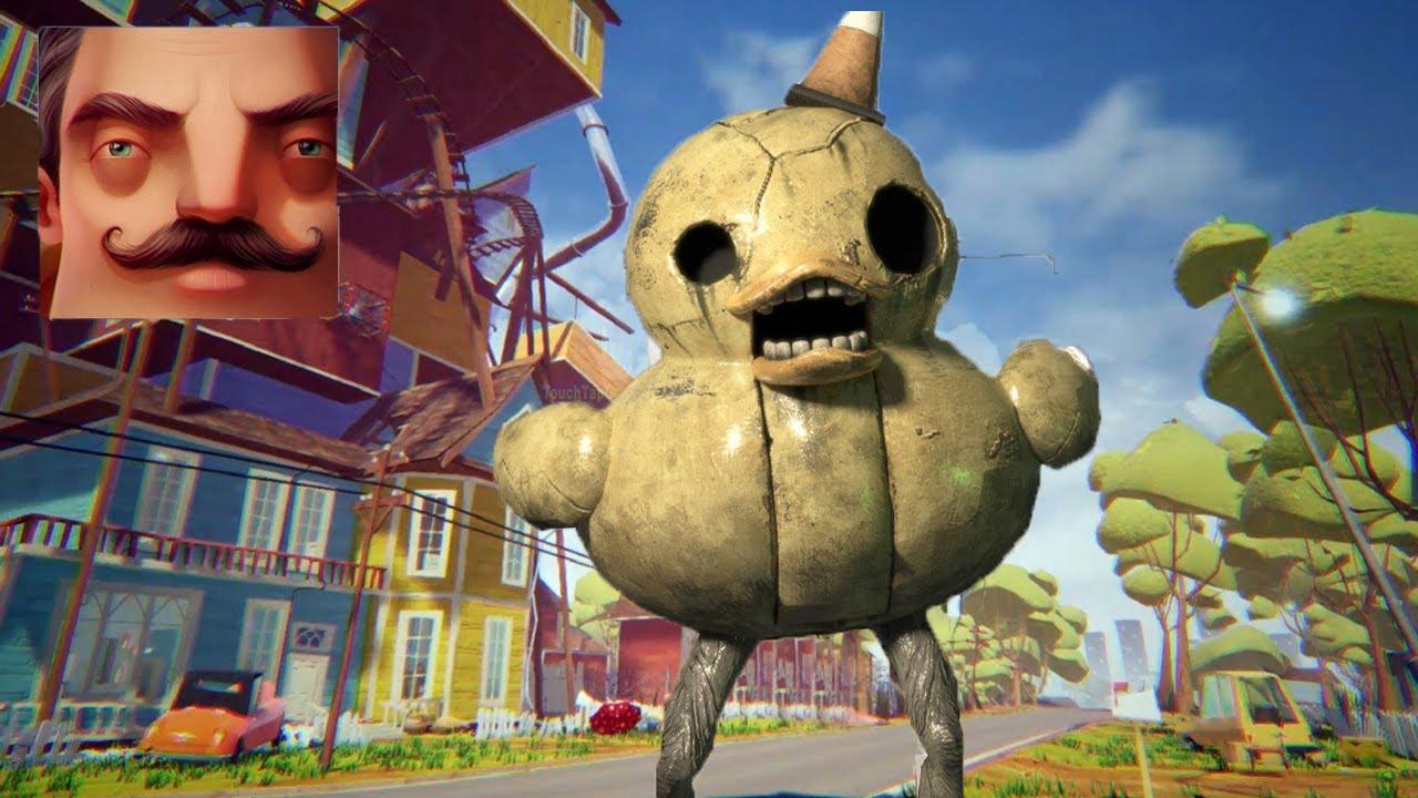 Hello Neighbor - My New Neighbor Big Duck (Dark Deception) Act 2 Trampoline Gameplay Walkthrough