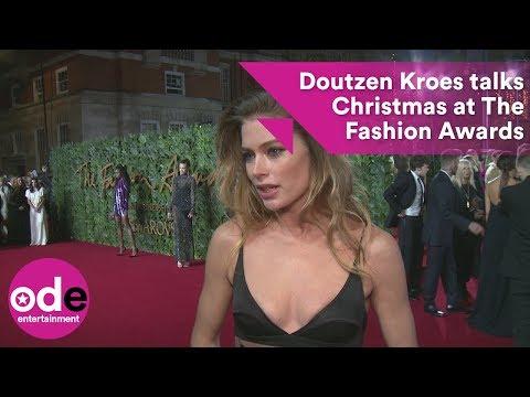 Doutzen Kroes talks Christmas at The Fashion Awards