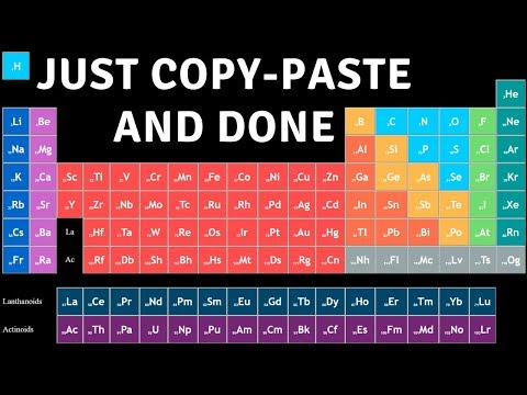 Make Magical Periodic Table In HTML