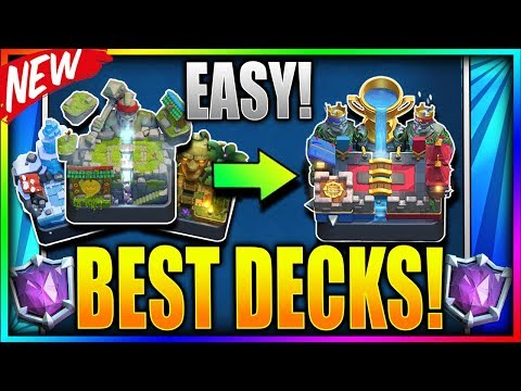 BEST LADDER DECKS to PUSH TROPHY FAST! Top 5 Deck to get Legendary Arena 11 - Clash Royale [Updated]