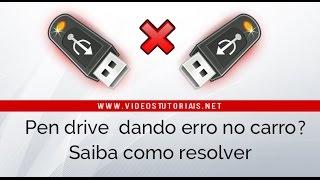 Pen drive não funciona no som do carro - Como Resolver