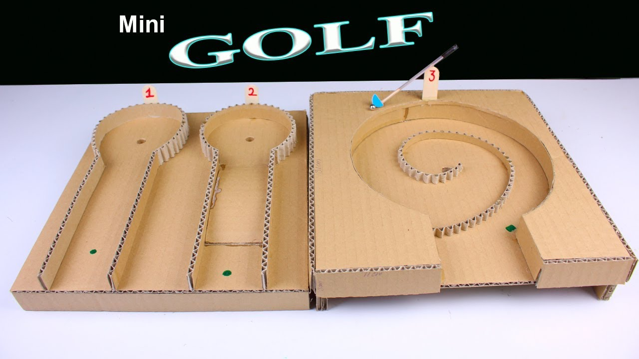 How To Make Mini Golf Desktop Game From Cardboard Diy Simple Mini