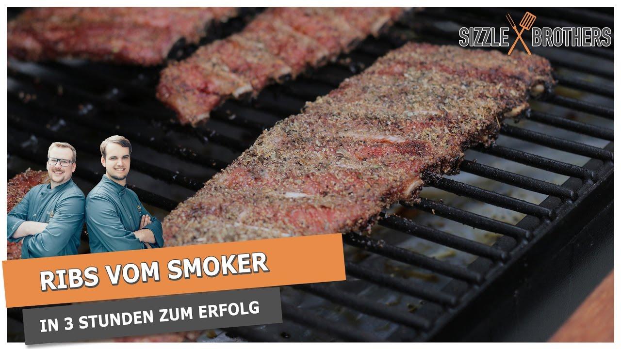 Spareribs Gasgrill Ohne Räuchern : Spareribs vom smoker in 3 stunden perfekte rippchen youtube