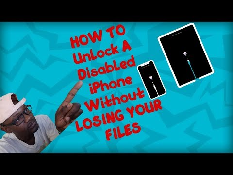 HOW TO UNLOCK A DISABLED IPHONE WITHOUT LOSING DATA