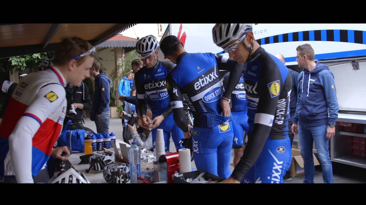 Etixx quick step training camp youtube for Quick step floors cycling team