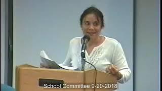 School Committee 9- 20 -2018