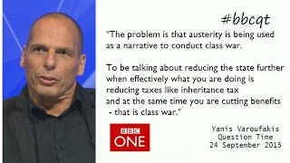 Varoufakis dismantles austerity, Osborneomics and UKIP (BBCQT 24/9/15 full episode)