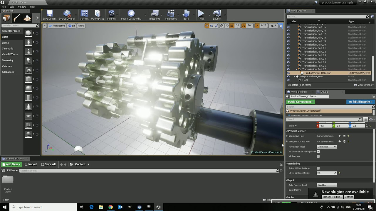 Unreal Studio, Productviewer Template, Part 1