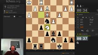 GM Finegold makes a second video today with just one minute bullet on lichess.org -- #17