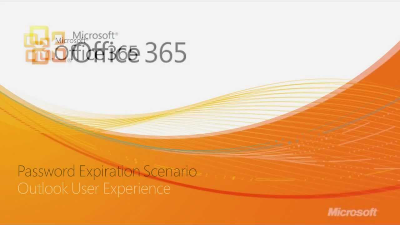 Office 365 – Password Expiration Notifications in Outlook