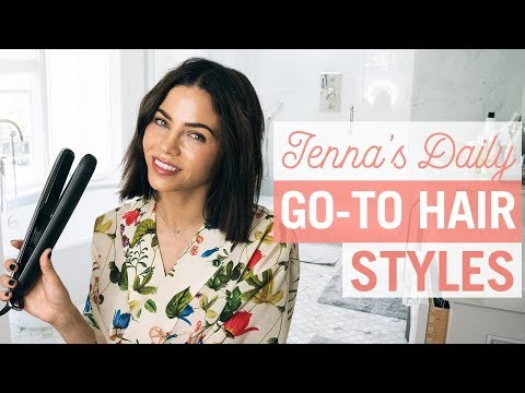 My Daily Hair Care Routine  Beachy Waves To Sleek At Night  Jenna Dewan