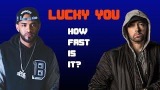 Speedtest: Eminem - Lucky You (ft. Joyner Lucas) How Fast Is It?