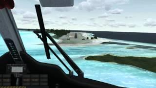 FSX Landing at Bora Bora Motu Mute