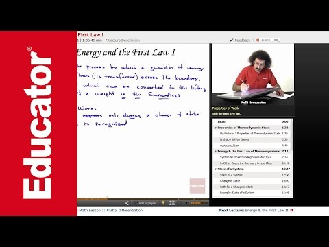 """""""Energy & the First Law"""" 