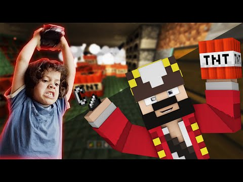 GRIEFER FRUSTRATING A WHOLE MINECRAFT LOBBY (MINECRAFT TROLLING AND GRIEFING)