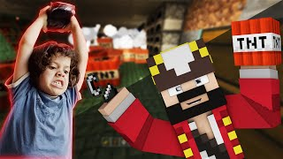 griefer frustrating a whole minecraft lobby minecraft trolling and griefing