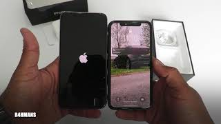 iPhone 11 Pro Max 256GB Silver Unboxing & Setup