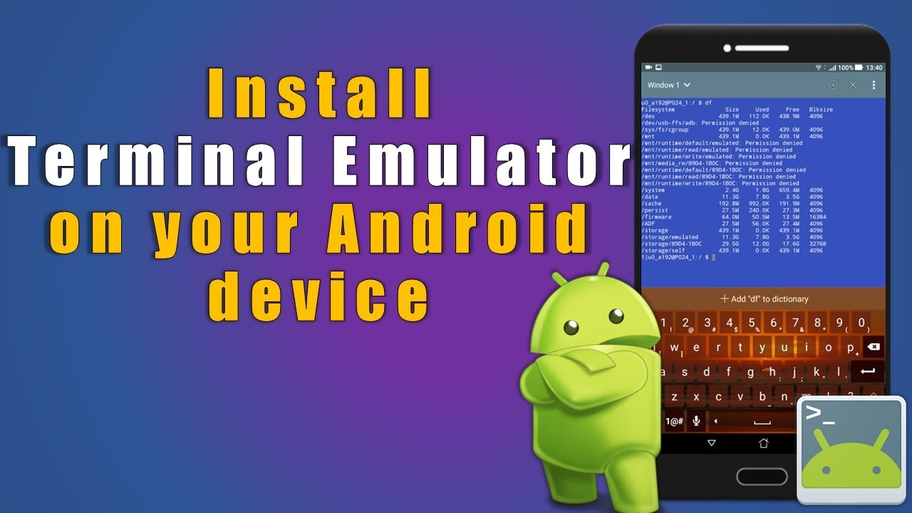 Install Terminal Emulator on your Android device
