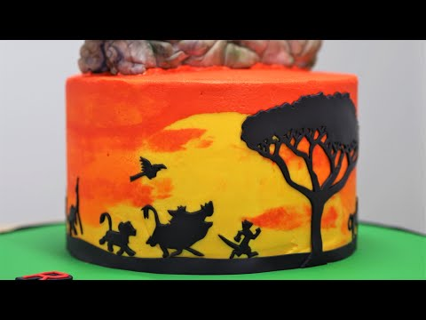 The Lion King Themed Cake Tutorial Ombre Buttercream Technique Youtube