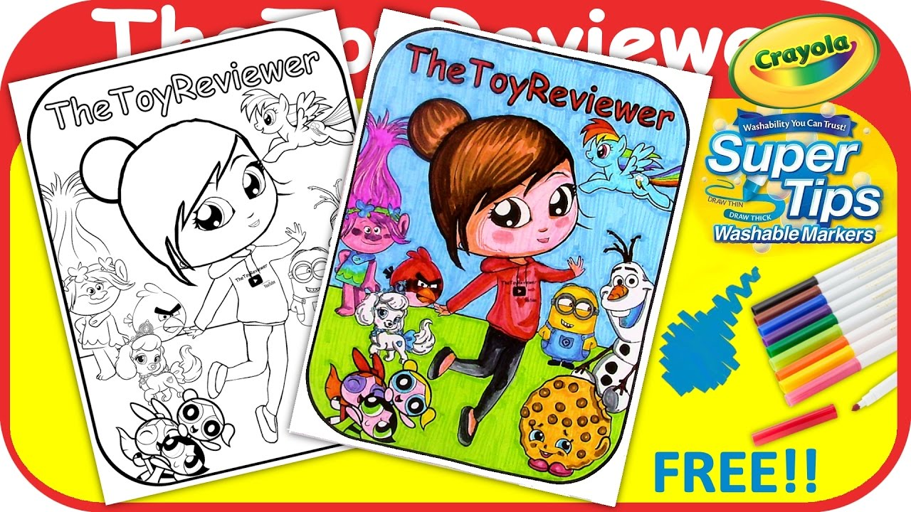 exclusive thetoyreviewer coloring book page crayola
