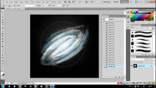 Photoshop tutorials for beginners - How to draw a galaxy in 10 minute, only with 2 tools.