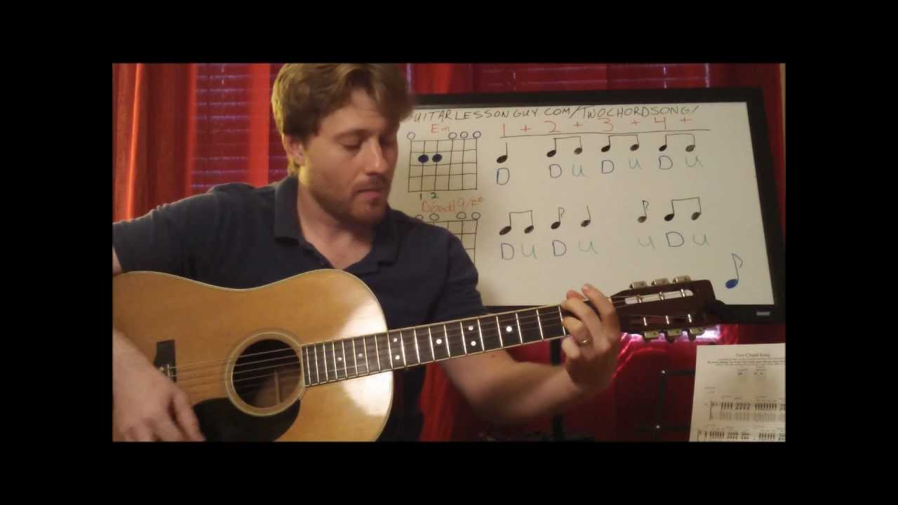 Horse With No Name Guitar Lesson Two Chords Easy Part Youtube