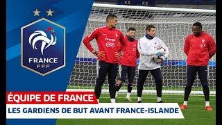 Spécifique gardiens de but avant France-Islande, Equipe de France I FFF 2019