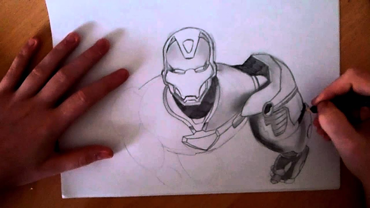 Awesome DrawingsIRON MANspeed drawing YouTube