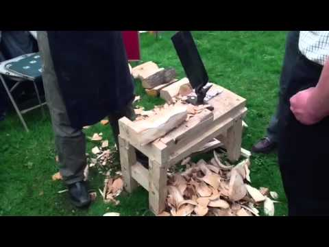 Making traditional wooden Clogs (Shoes)
