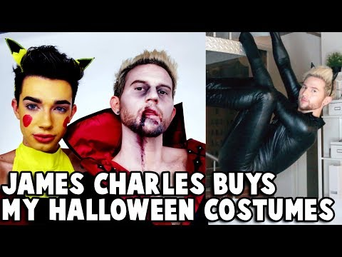 JAMES CHARLES BUYS MY HALLOWEEN COSTUMES