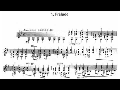 Alexandre Tansman: Hommage à Chopin, for Guitar (Score video)