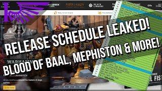 Games Workshop November & December Release Schedule Leaked!